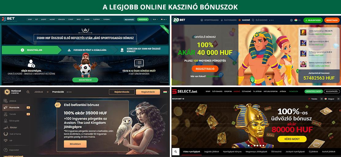 Bónuszok Online kaszinó